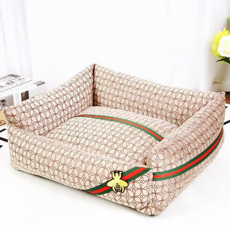 Embroidered Removable and Washable Dog Beds For Large Dogs