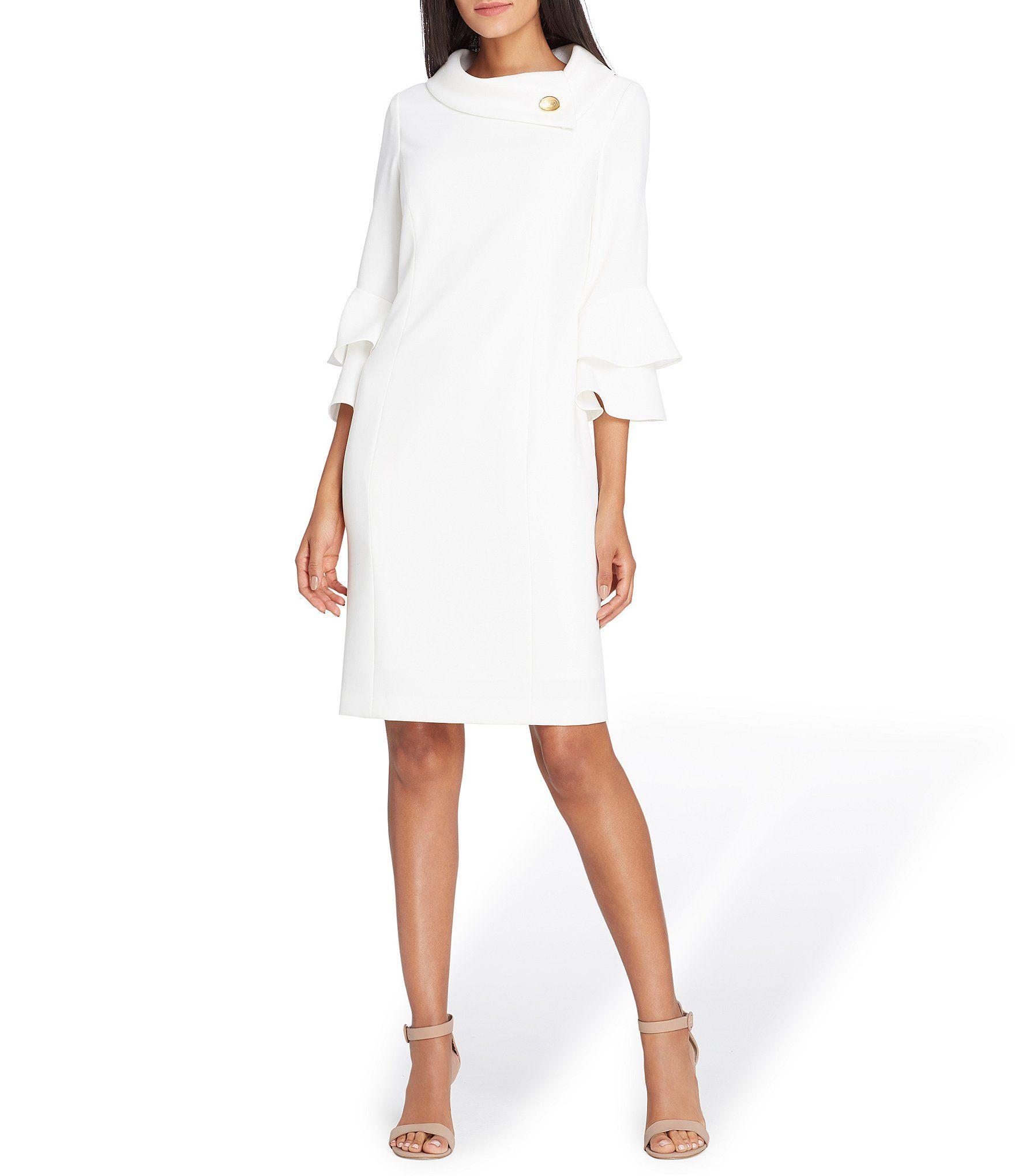 c93387c4b18 Shop for Tahari ASL Broach Shawl Collar Ruffle Sleeve Dress at Dillards.com.  Visit Dillards.com to find clothing