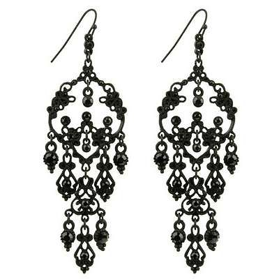 black gothic earrings - Google Search | Black and Red Prom ...