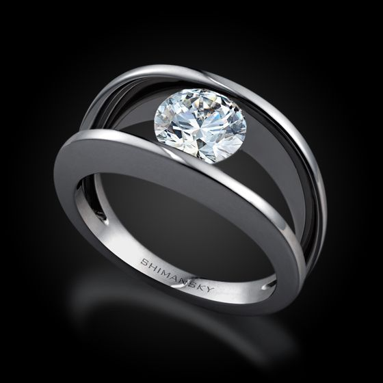 6156fdabcfcc52 Shimansky Millennium Diamond Engagement Ring Another love if mine ...