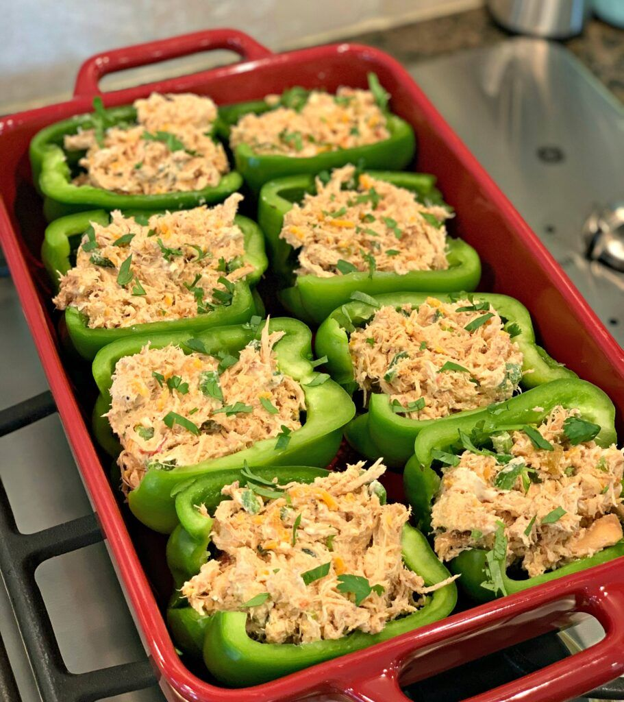 Chicken Stuffed Peppers The Cookin Chicks Recipe Stuffed Peppers Chicken Stuffed Peppers Stuffed Bell Peppers Chicken
