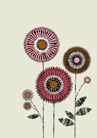 Couleurs Dautomne Portion De Vie Fleurs Stylisées