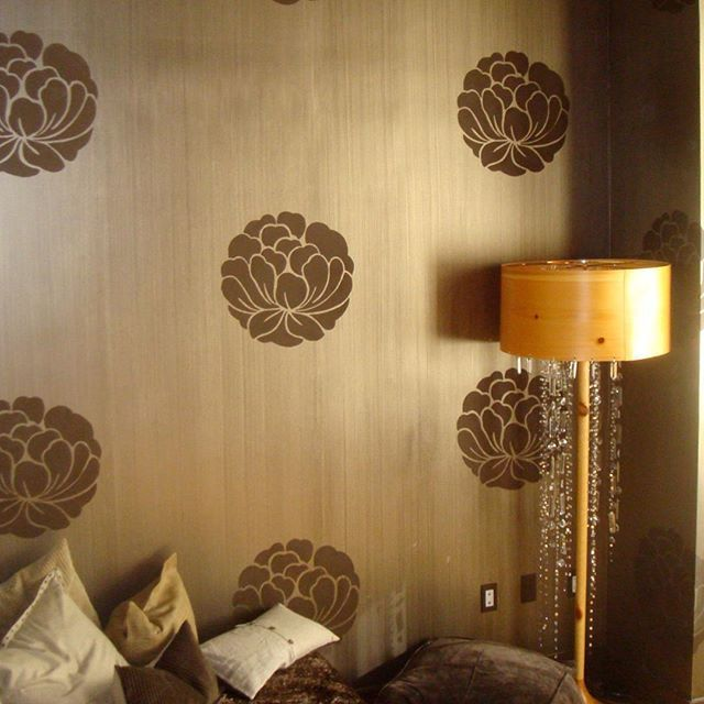 Modern Masters Warm Silver Metallic Paint over Dark Brown Latex ...