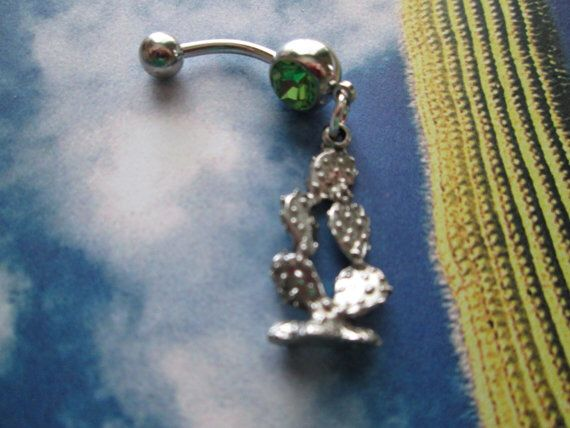 Cactus Belly Button Ring Piercings In 2019 Belly Button Rings