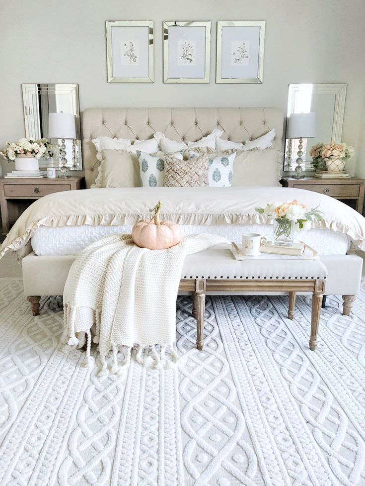 Welcoming Fall Home Tour Rustic Chic Style My Texas House Rustic Chic Bedroom Farmhouse Rustic Chic Bedroom Bedroom Interior Master Bedrooms Decor