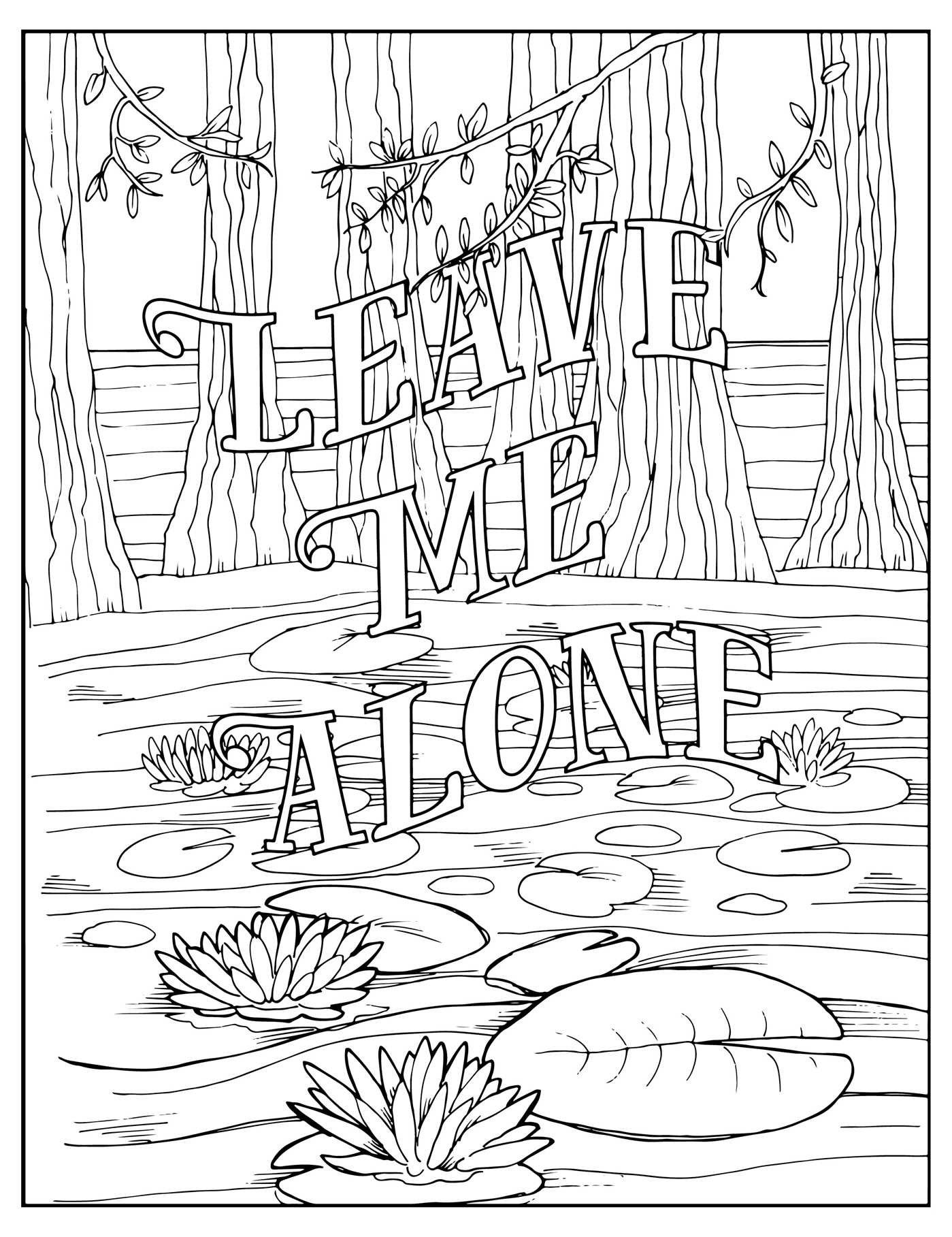Bad word coloring pages - Fuck Off I M Coloring By Dare You Stamp Co Color The Shit Out Of This New Stress Relieving Swear Word Adult Coloring Book
