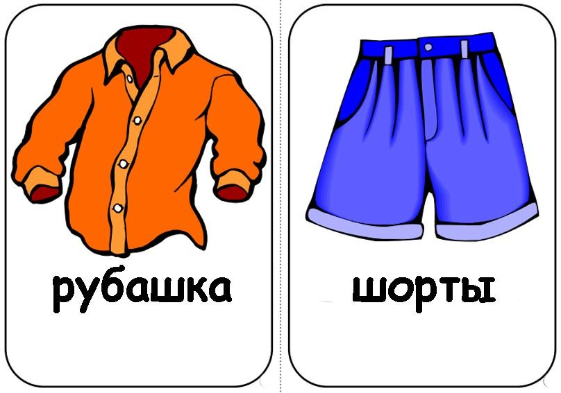 Картинки одежды по отдельности для детей
