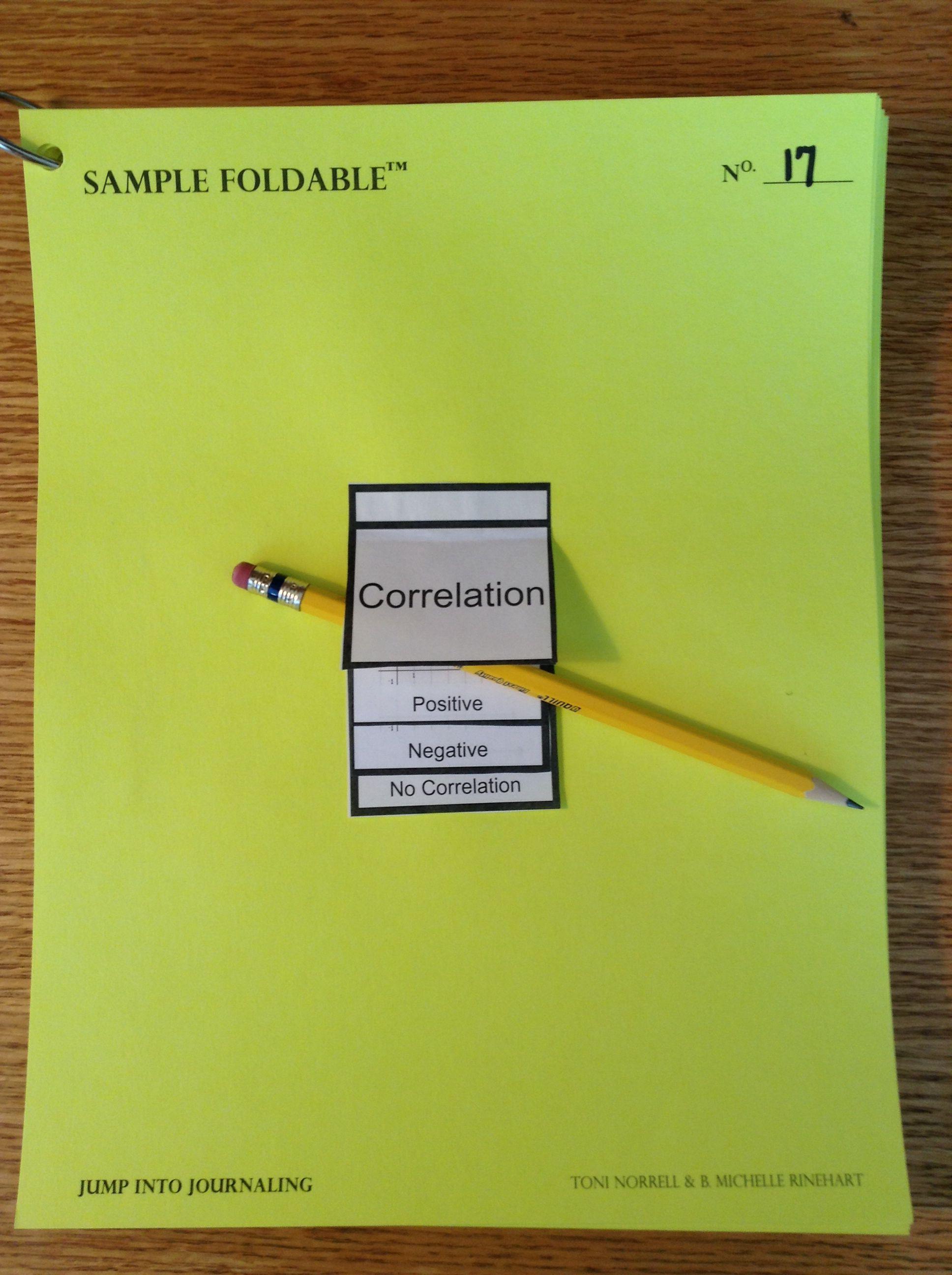 Linear Correlations Flip Book Foldable Using Ti Nspire
