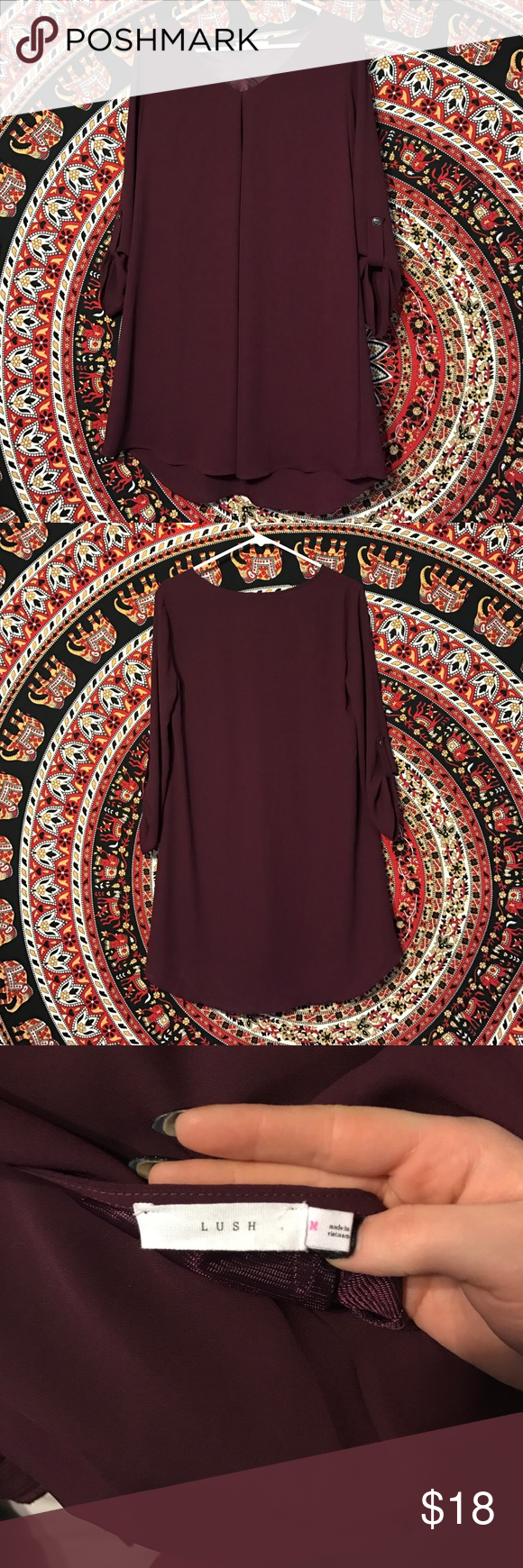 Maroon shift dress This dress is so comfortable & the color is great! I bought it without trying it on, it just doesn't fit my body type quite right. Lush Dresses Long Sleeve