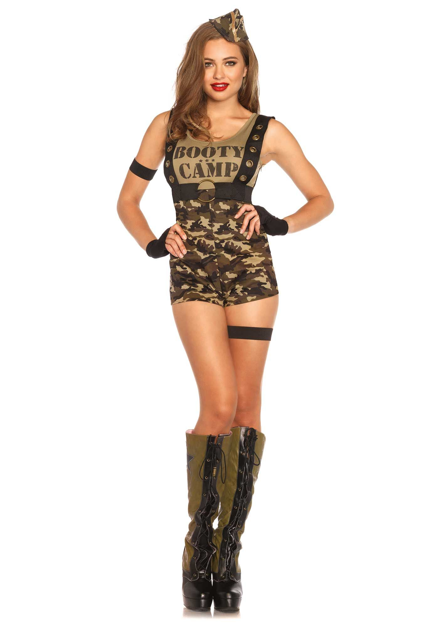 leg avenue beauty camp cutie costume army soldier military camouflage army halloween costumesarmy girl - Soldier Girl Halloween Costume