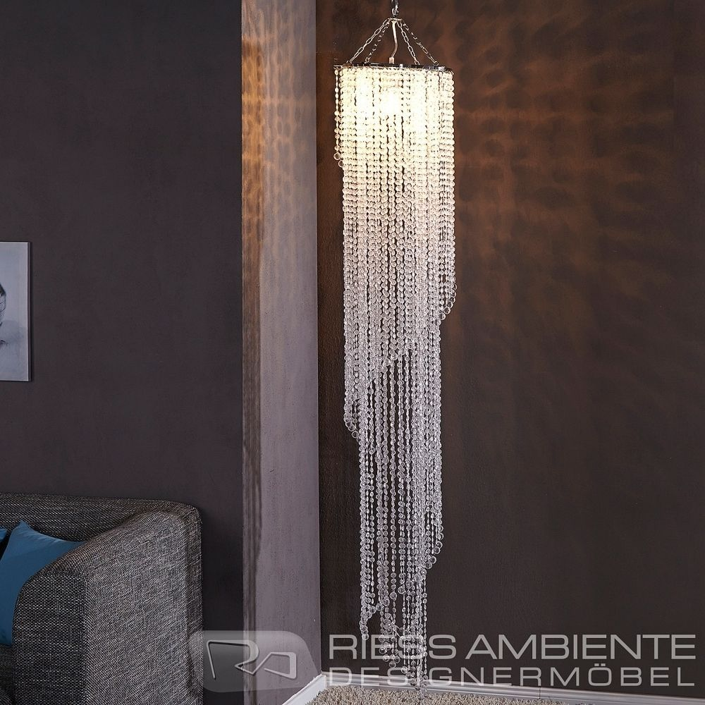 Design Xl Hängelampe Kronleuchter Big Strass 180cm Kristall Lampe
