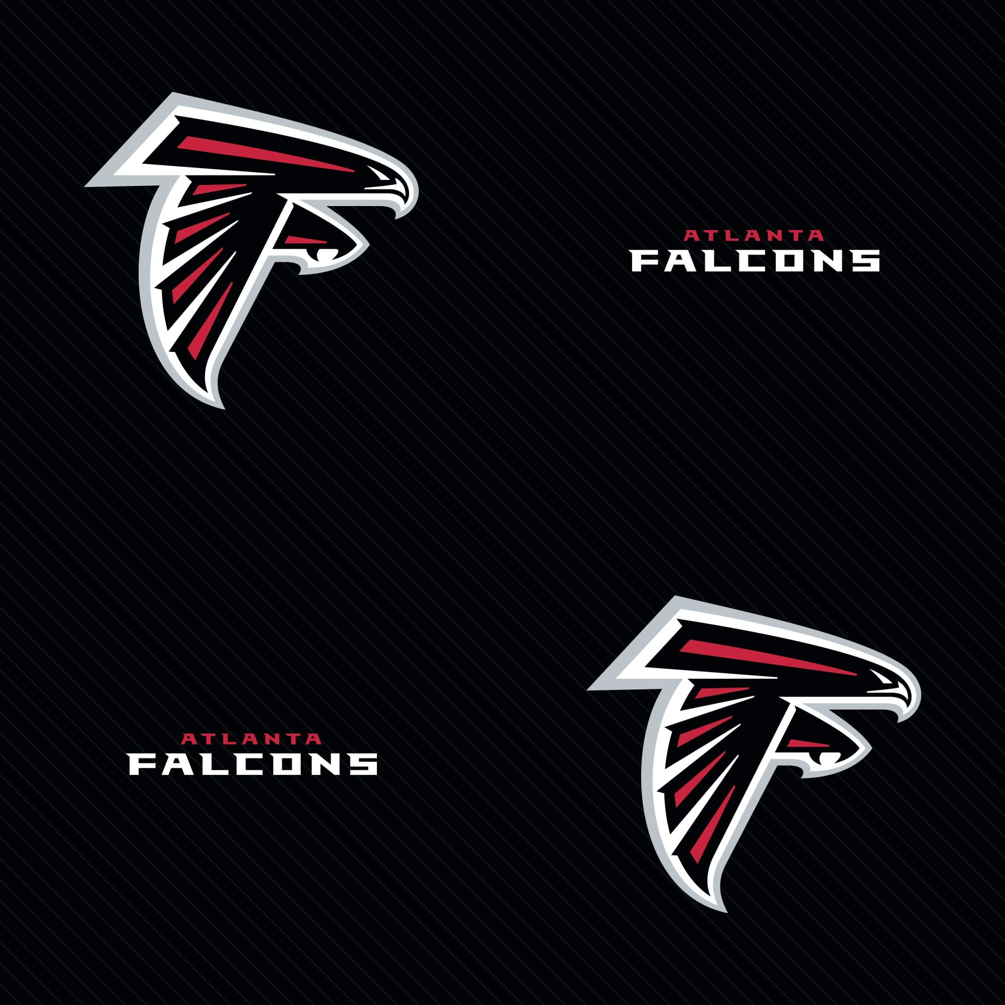 Atlanta Falcons Line Pattern Black Officially Licensed Removable Wallpaper Atlanta Falcons Line Patterns Peel Stick Wallpaper