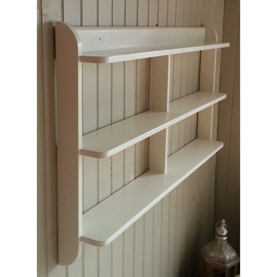 Wide Wall Mounted Open Back Shelf Unit Painted Kitchen Shelves Or Dvd And Paperback Book Shelves Shelves Shelf Unit Kitchen Shelves