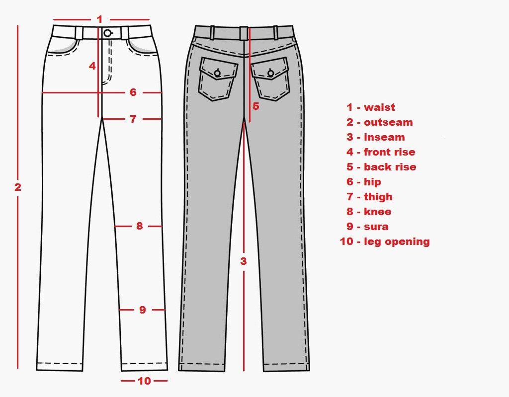 Measuring pants for sale clothing patterns standard image