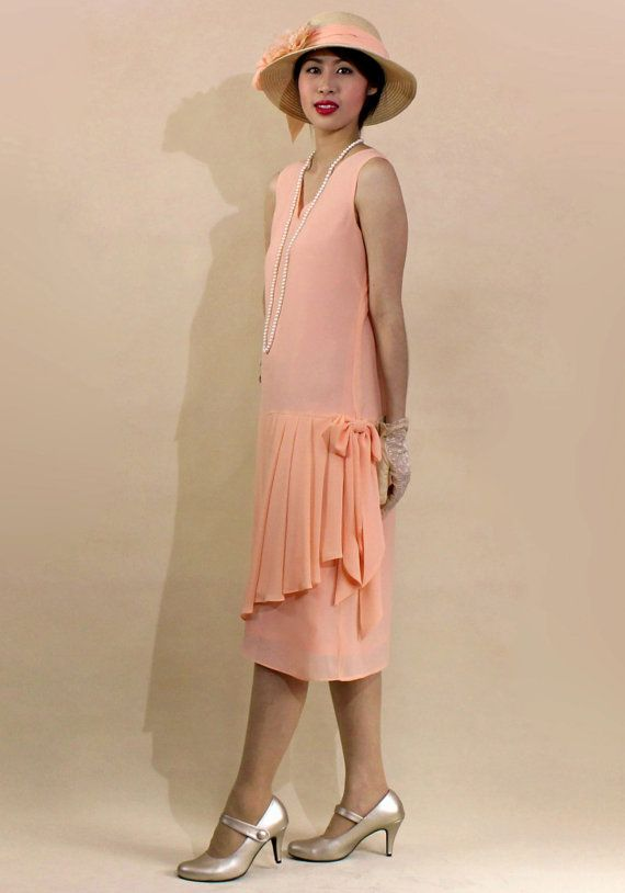 1920s Day Dresses Tea Dresses Mature Dresses With Sleeves 1920s