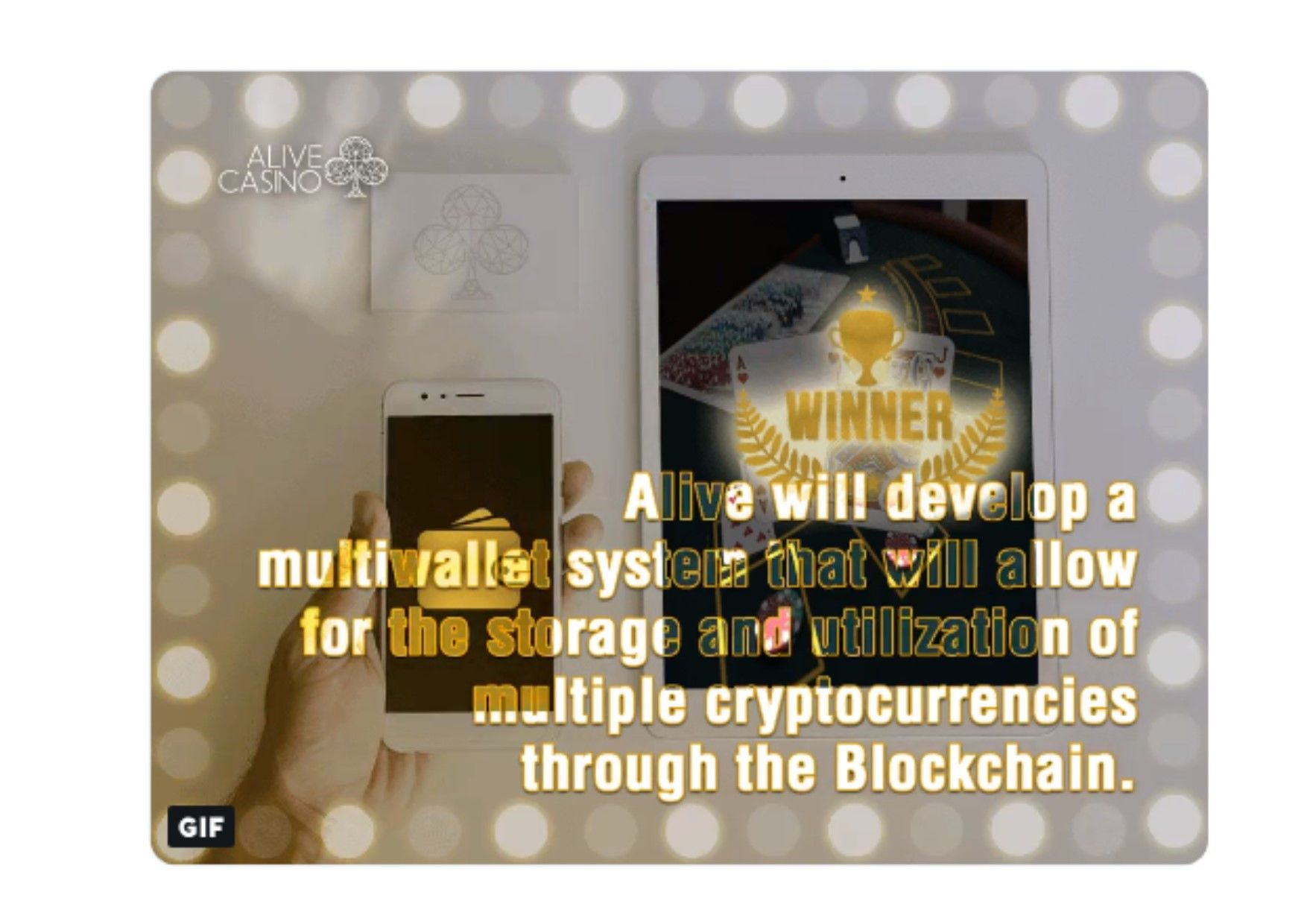 Alive will develop a multiwallet system that will allow