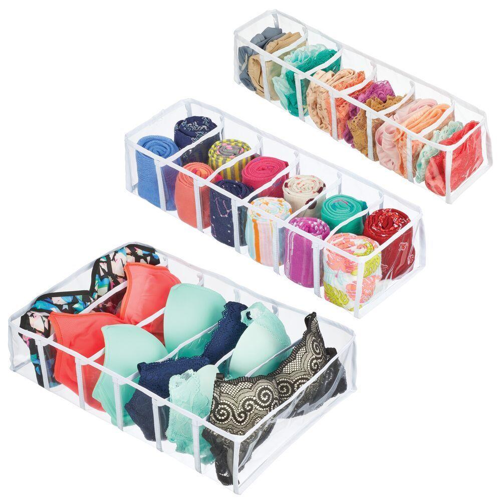 Plastic Closet And Dresser Drawer Storage Dividers Set Of 3 In 2020 Storage Drawers Dresser Drawers Drawers