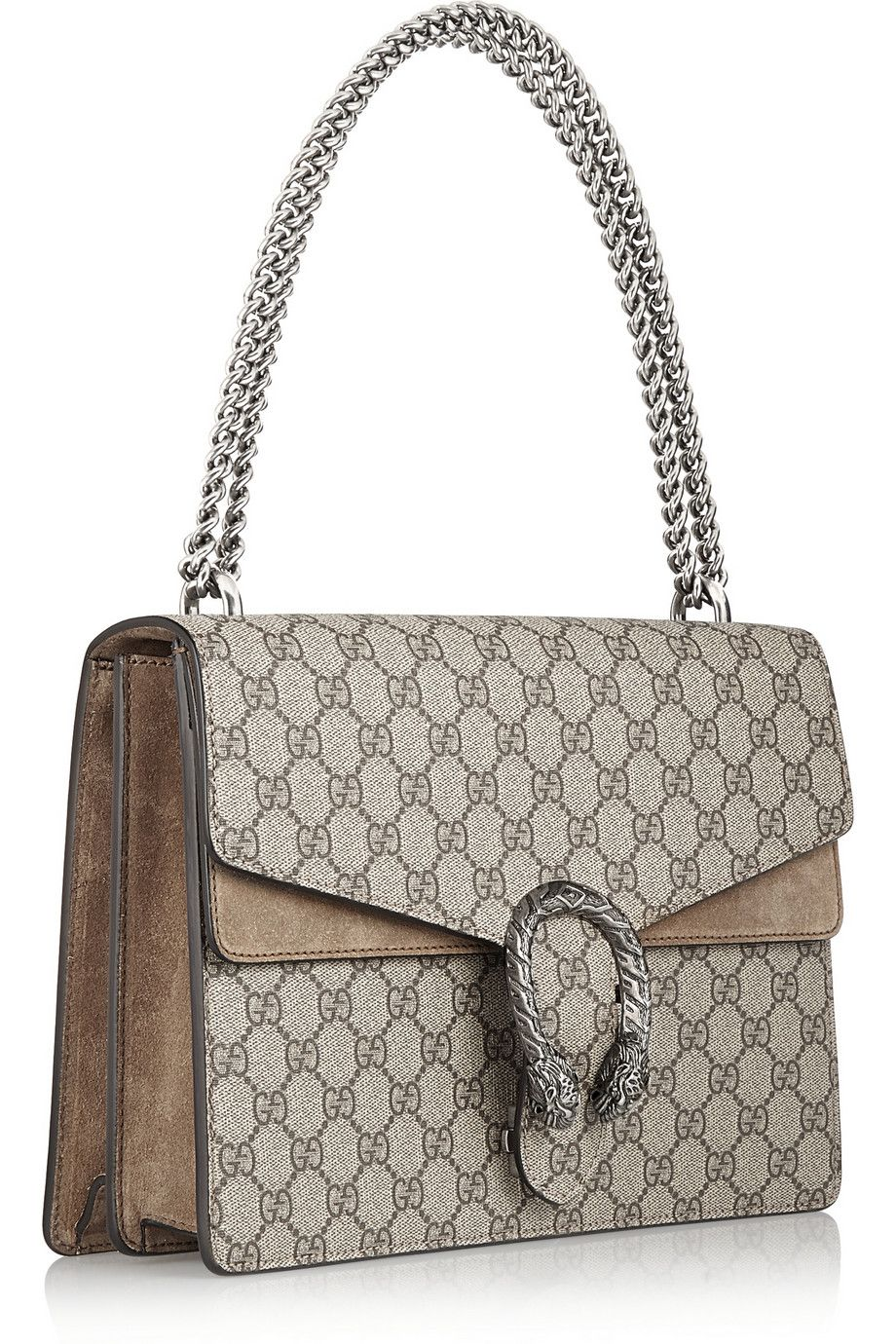 14ad71951983e Gucci   Dionysus coated canvas and suede shoulder bag   NET-A-PORTER ...