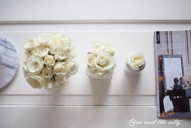 Roses x 3 #interior #roses #flowers #vase  http://divaaniblogit.fi/charandthecity/2014/11/24/ruusuasetelma-x-3/