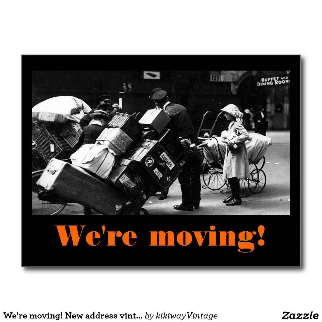Were moving new address vintage funny luggage postcard change explore postcards greeting card and more kristyandbryce Gallery