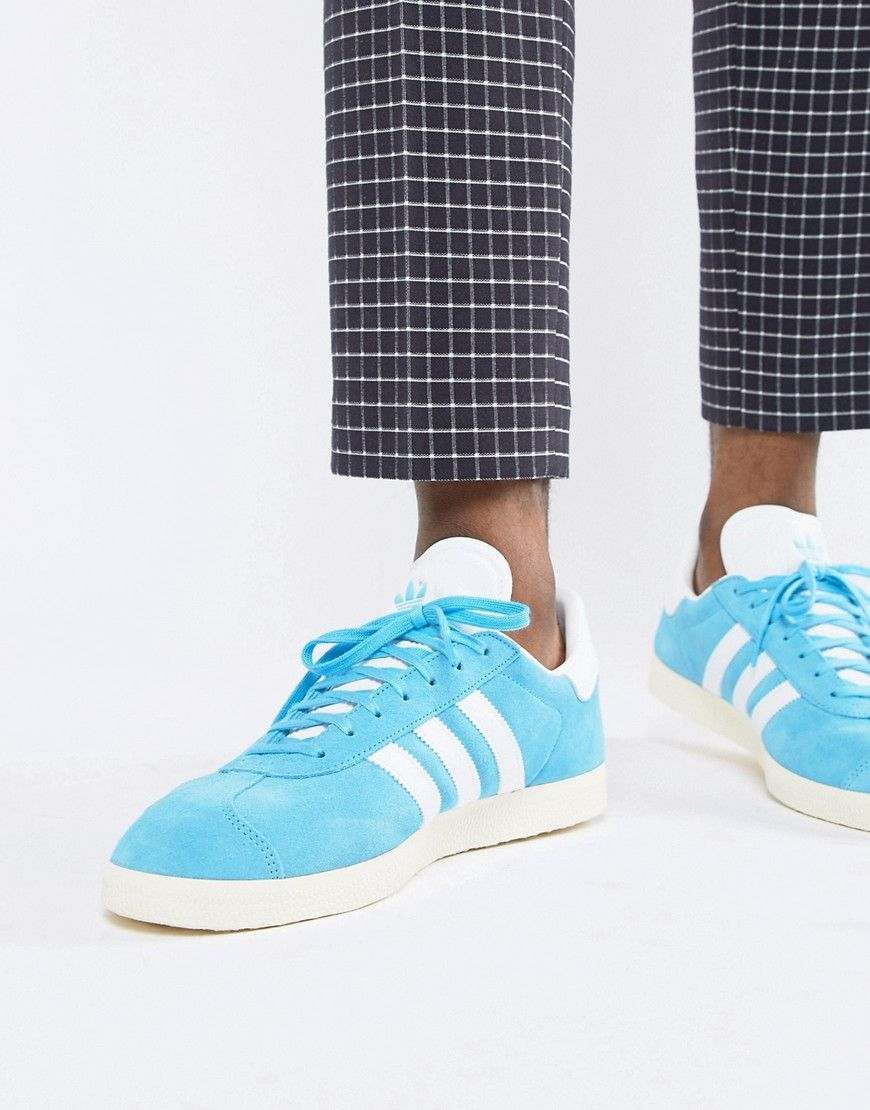 cheap for discount c1d67 874ec ADIDAS ORIGINALS GAZELLE SUEDE SNEAKERS IN BLUE B37945 - BLUE.   adidasoriginals  shoes