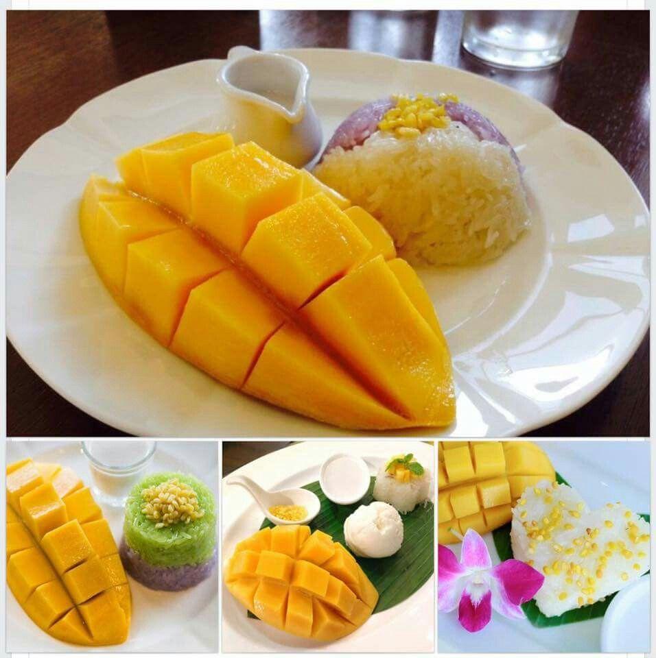 Sweet mango desserts