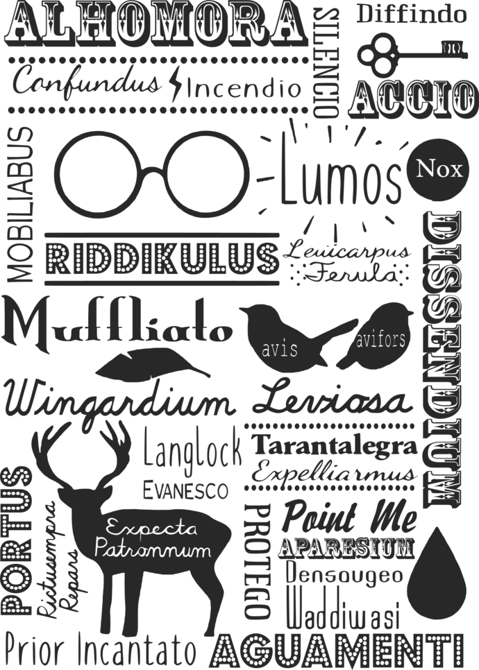 Harry Potter SVG and PNG Cliparts no Background in 2020