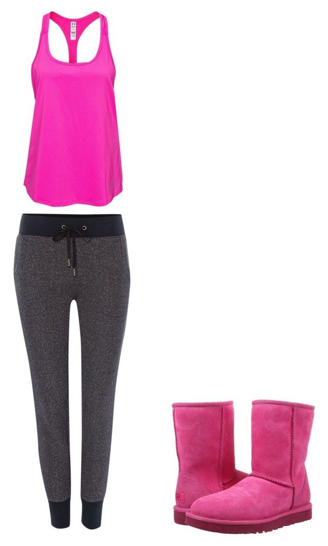 """""""Lazy Day"""" by hailey-michele on Polyvore featuring Under Armour, True Religion and UGG Australia"""