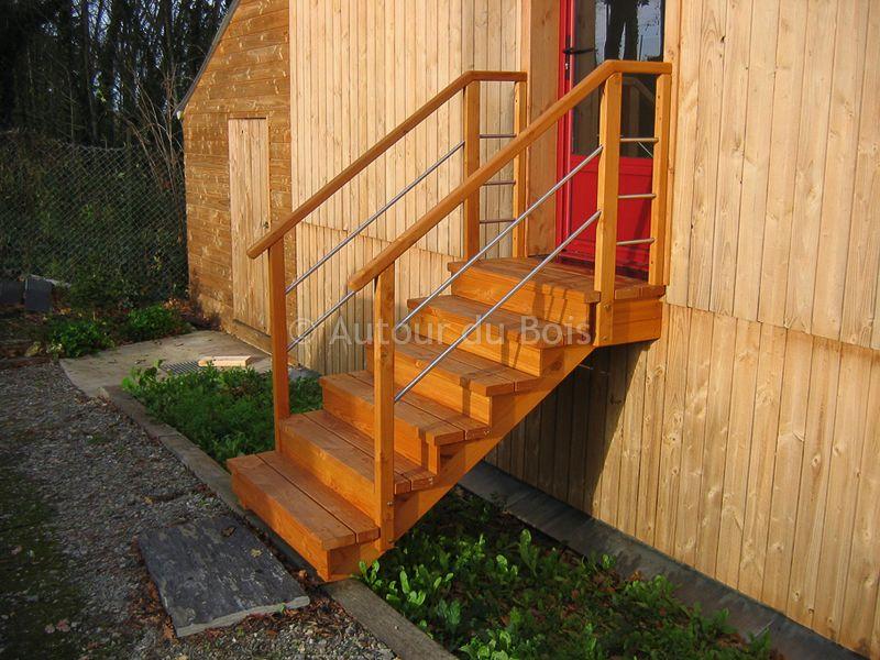Construction d 39 escaliers bois et inox artisan angers for Bois construction exterieur
