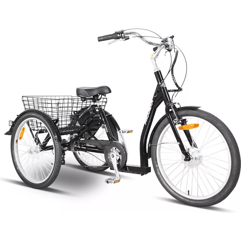 Progear E Free Electric Trike W Basket Black 24inch Electric Trike Electric Tricycle Tricycle