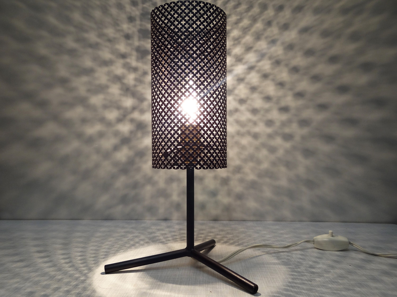 Fantastische Midcentury Tripot Lampe Tischleuchte 60s Vintage Metallschirm Tischlampe 60er Jahre Table Lamp Novelty Lamp Lamp