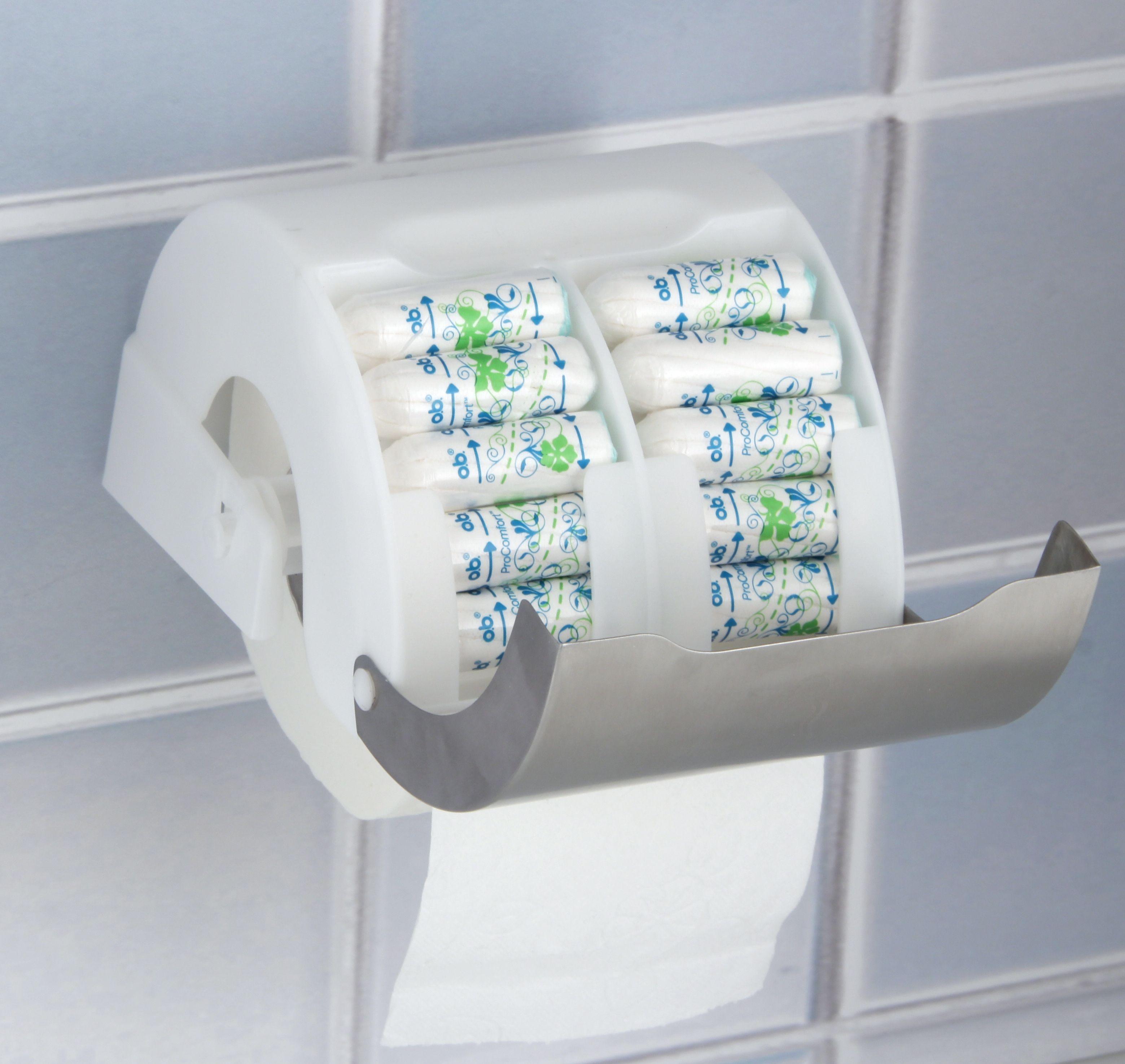 Fackelmann Tecno Toilettenpapierhalter Mit Tamponbox 61161 Toilettenpapierhalter Badezimmer T Losung Wc Garnitur