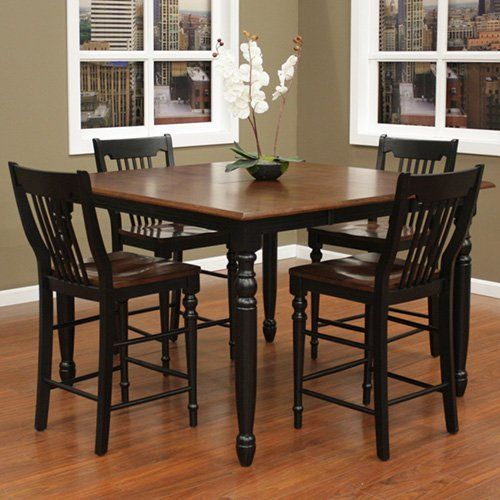 Have to have it. AHB Berkshire 5 Piece Counter Height Set with Homestead Stools - $900 @hayneedle