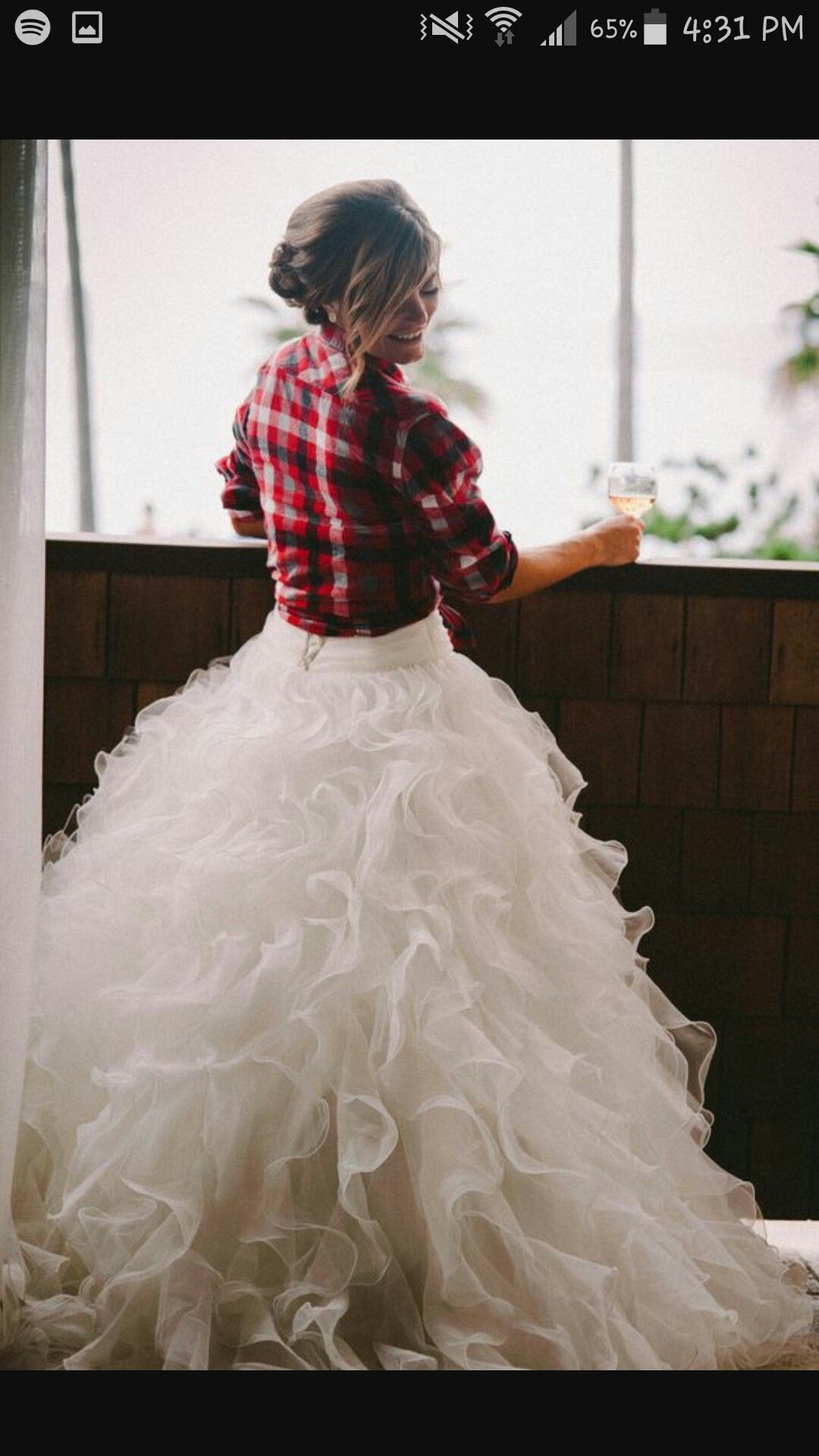 Plaid wedding dress  Pin by Hannah Mills on I Do  Pinterest