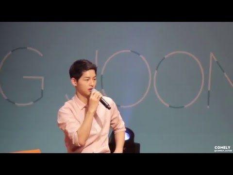 160417 송중기 5TH 팬미팅 [우리 '다시' 만난 날 ] - 작품 토크 - YouTube