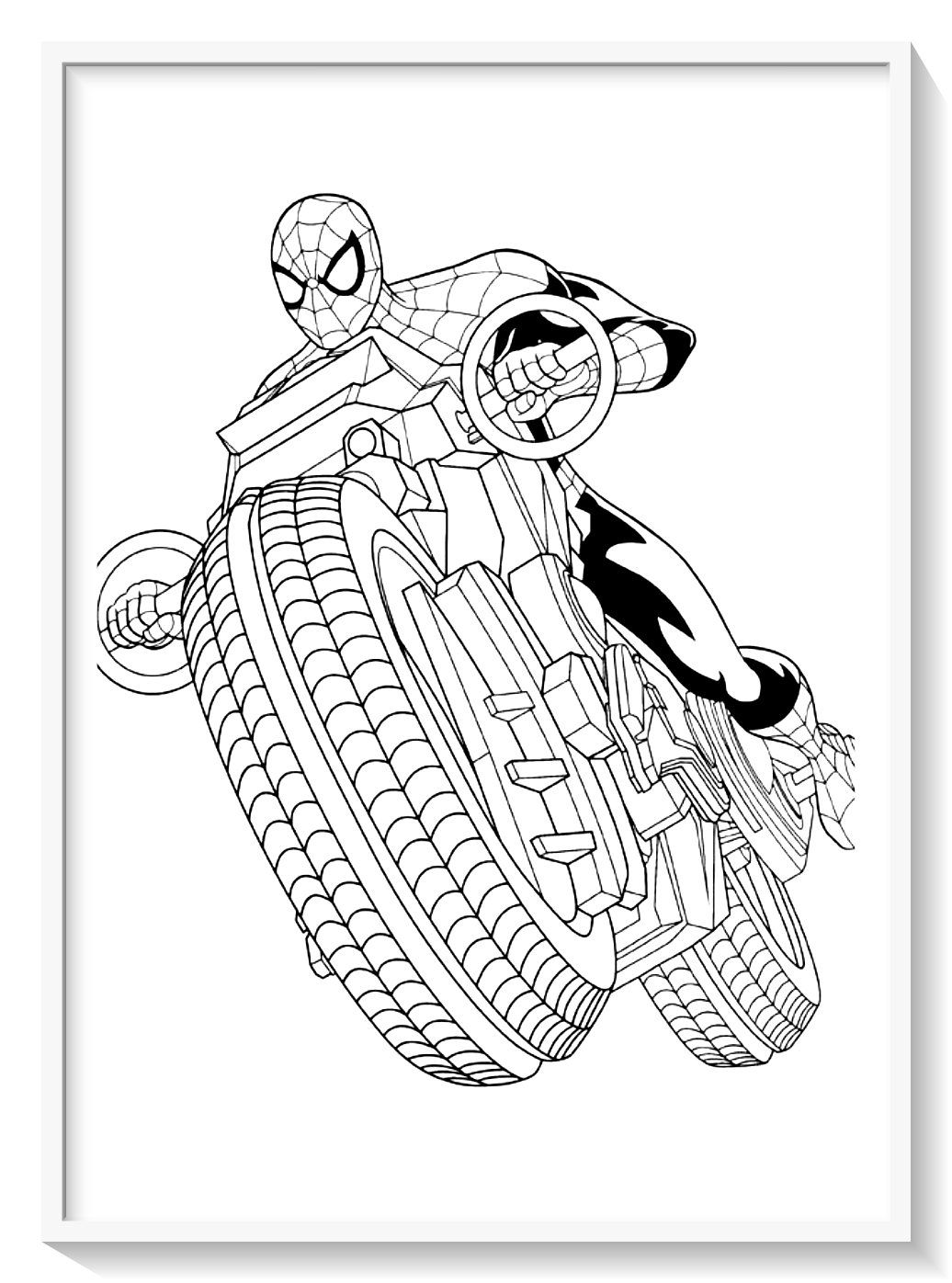 Los Mas Lindos Dibujos De Spiderman Hombre Arana Para Colorear Y
