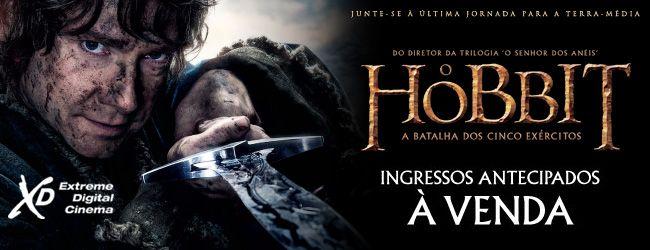 Venda Antecipada do filme O Hobbit 3.
