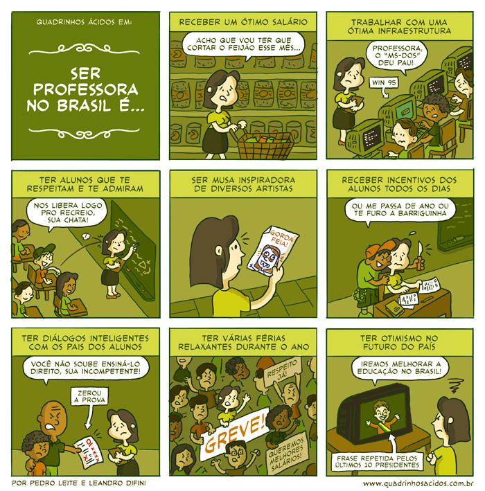 Deposito De Tirinhas: Ser Professora no brasil e...