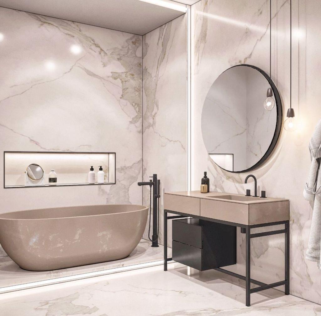 44 Popular Modern Contemporary Bathroom Design Ideas To Make Luxurious Look Trendehouse Bathroom Design Inspiration Contemporary Bathroom Designs Modern Bathroom Design
