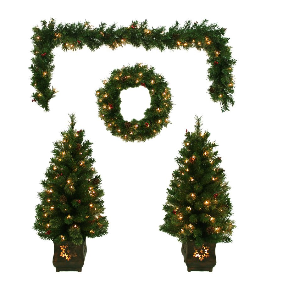 Holiday Living PreLit Front Door Decoration Kit with