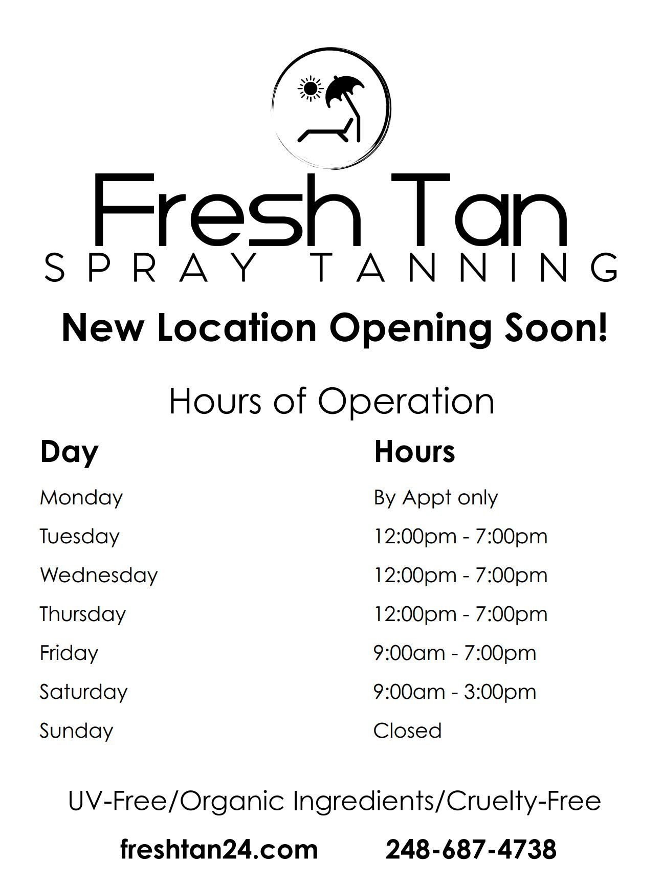Pin by Michelle Rocchio on Fresh Tan Custom business
