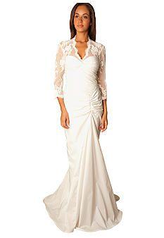 Tadashi Shoji Taffeta Twist Bodice Bridal Gown Belk Wedding