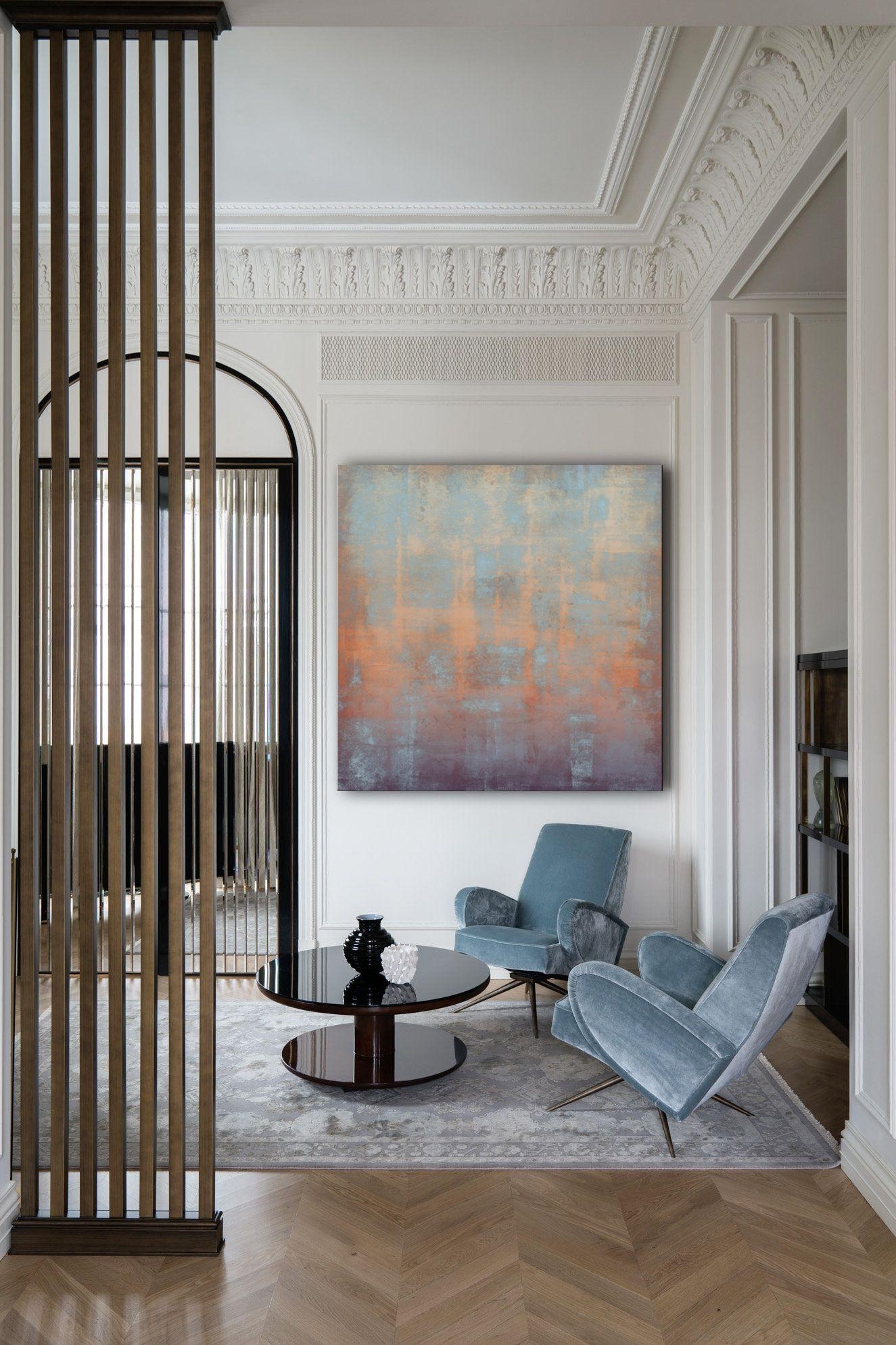 Rustic Abstract Painting Large Canvas Art Print Decor Interior Design Interior Design Modern Interior Design