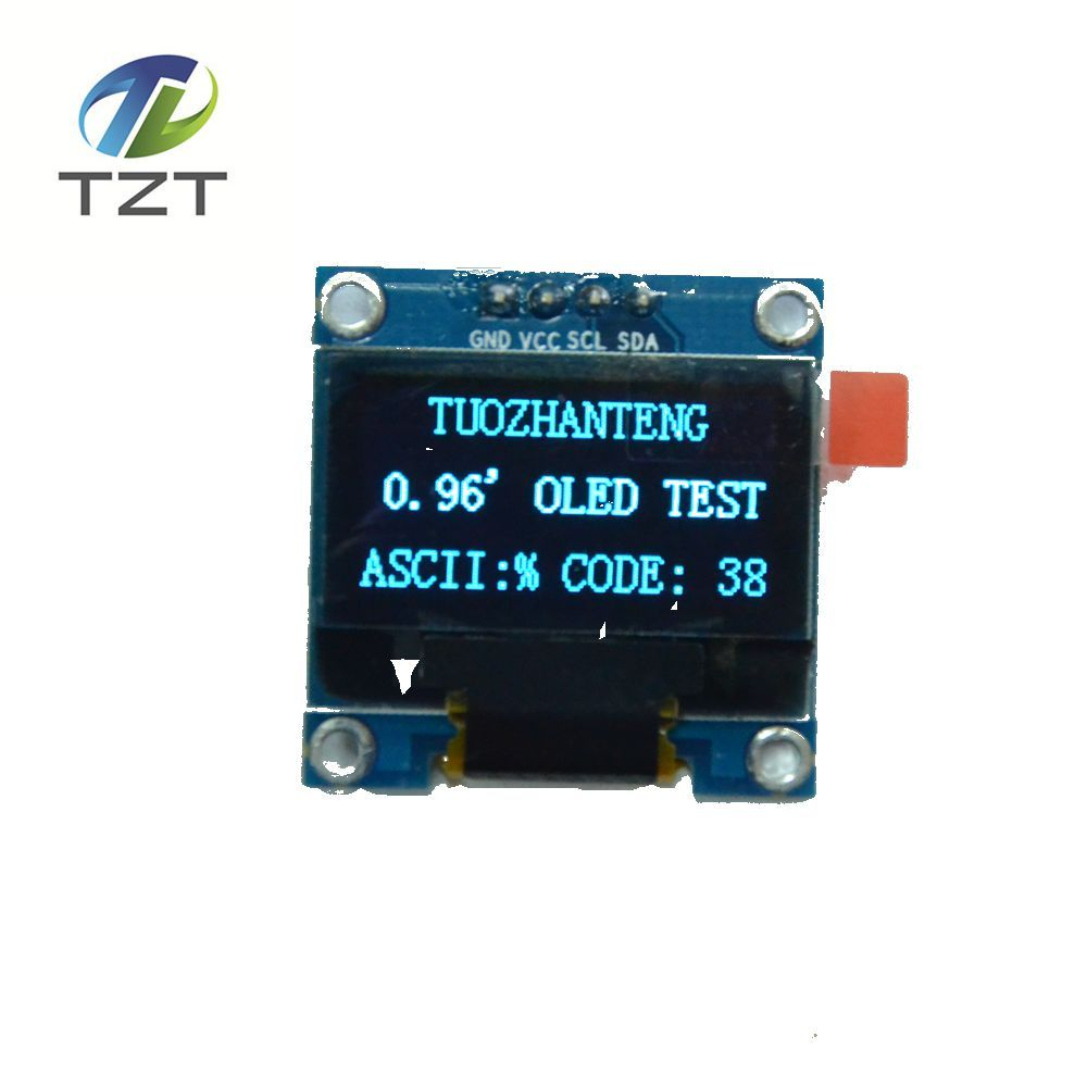 1 stks blauw kleur 0.96 inch 128X64 Oled-scherm Module Voor arduino 0.96 IIC SPI Communiceren