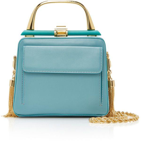 Elie Saab     Mini Classique Bag (26.565 ARS) ❤ liked on Polyvore featuring bags, handbags, blue, elie saab, embellished purses, decorating bags, miniature purse and mini handbags