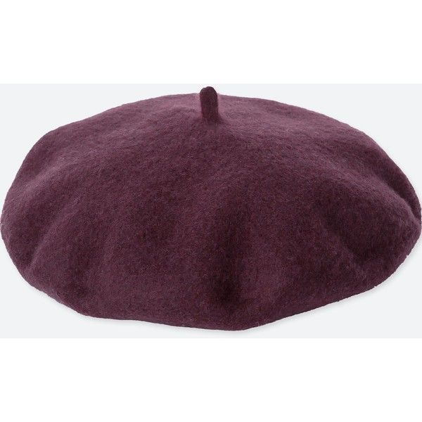2de7dbc538437 UNIQLO Women s Wool Beret ( 20) ❤ liked on Polyvore featuring accessories