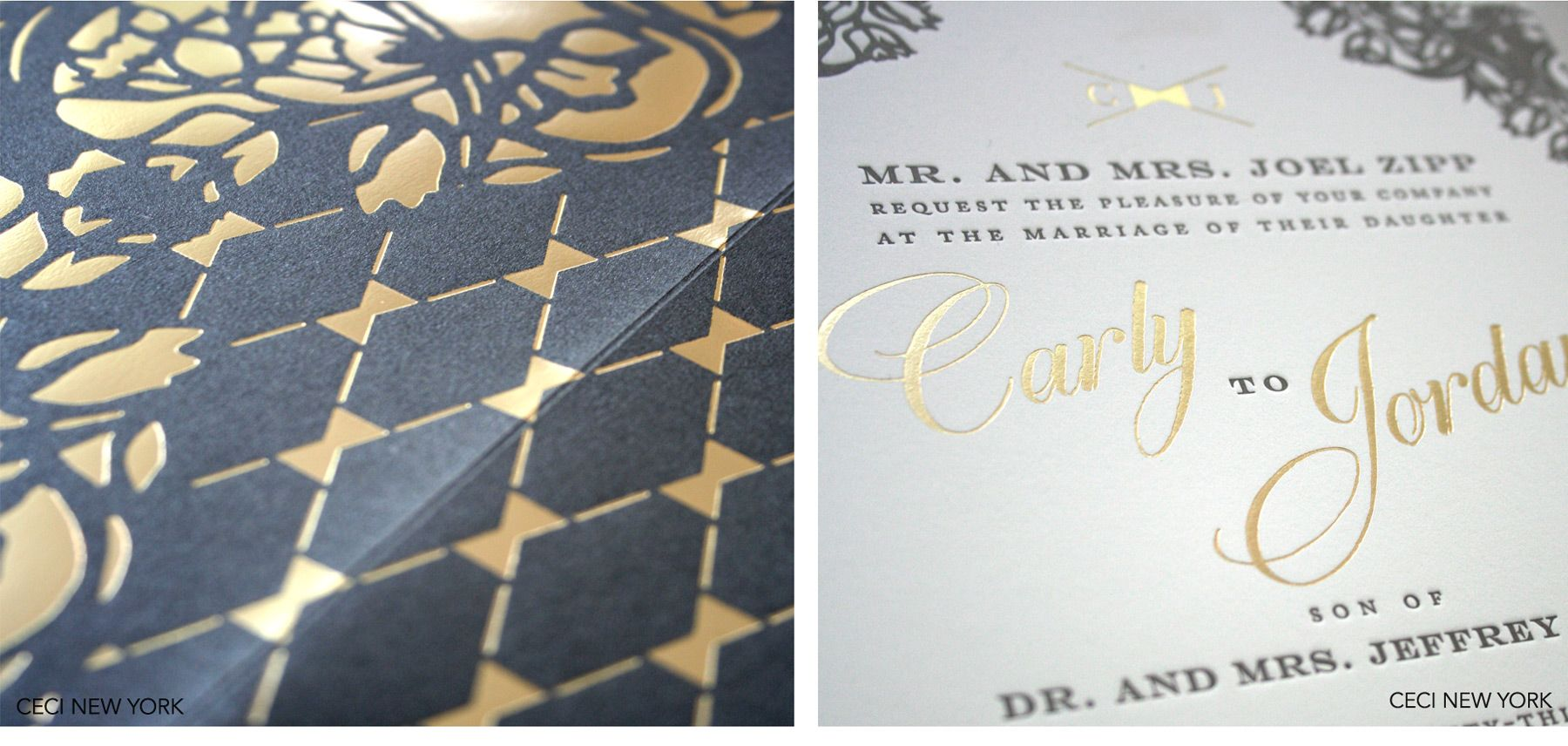 Luxury Wedding Invitations by Ceci New York - Our Muse - Chic Wedding in Virginia: Carly & Jordan, Part 1 - Be inspired by Carly & Jordan's chic wedding at Salamander Resort & Spa - Ceci New York Luxury Wedding Invitations - laser-cutting, laser-cut bellyband, foilstamping, letterpress printing, custom wedding invitations, wedding, chic wedding, ceci new york, luxury wedding invitations