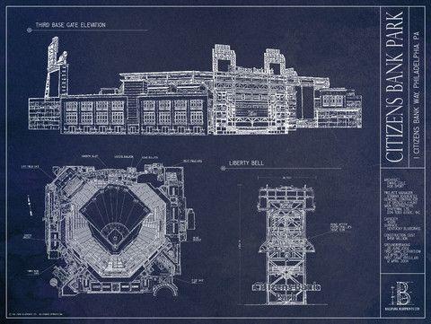 Citizens bank park ballpark blueprints neato pinterest citizens bank park ballpark blueprints malvernweather Gallery