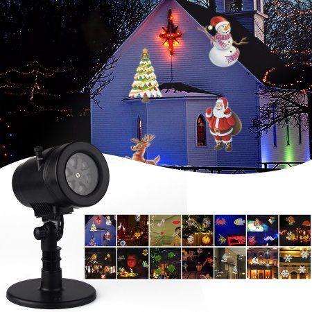 14Pattern Indoor Outdoor LED Moving Laser Projector Light Landscape