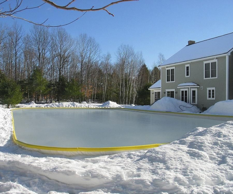 NiceRink Backyard Ice Rink Kit (With images) | Backyard ...
